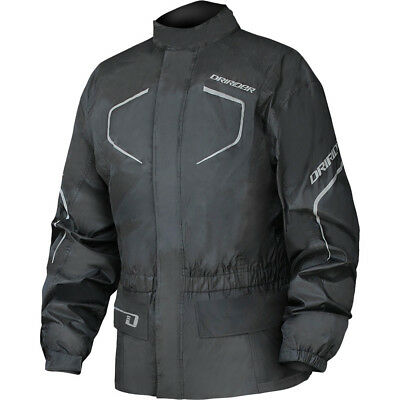 NEW DriRider Thunderwear 2 Wet Weather Lite Waterproof Black Motorcycle Jacket