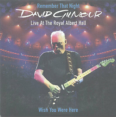 David Gilmour Remember That Night Cd Single Advanced Promo 3 Songs David Bowie