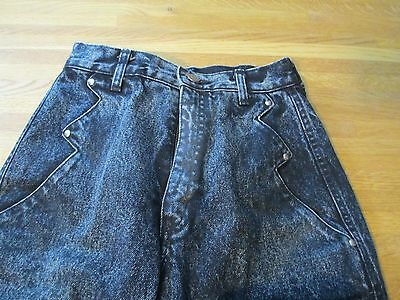 Vintage High Waisted Women's Lawman Long Roper USA Made Western Jeans Size 7 x34