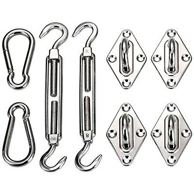 Ollieroo Shade Sail Hardware Kit For Rectangle & Square Sun Shade Sail Installat