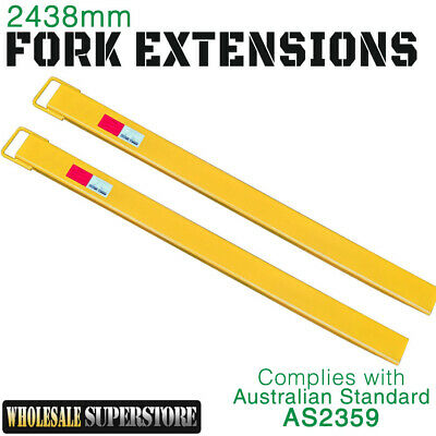 Forklift Fork Extensions Slippers Brand New 2438mm