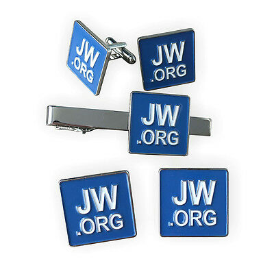 JW.ORG Cufflinks and Tie Clip and 2 Pins Set
