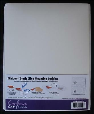 "EZMount Static Cling Mounting Foam 8.5"" x 11"" to use with unmounted rubber stamp"