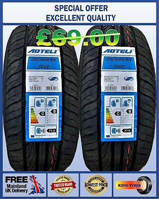 NEW 2x 205/55R16 91V RIKEN MICHELIN MADE NEW 2 QUALITY TYRES. 2055516 LOW PRICE.