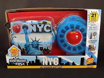 NEW VIEW-MASTER NEW YORK CITY - Gift Set - Viewer, 3 Reels and Case BIG APPLE