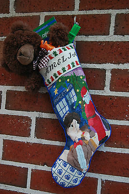 Doctor Who Inspired Cross Stitch Christmas Stocking chart download 11th tardis
