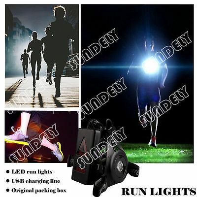 New Night Running Flashlight USB Charge Chest Lamp Torch IP65 For Outdoor Sports