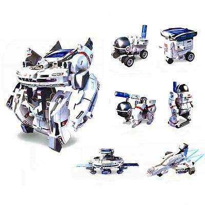Green Energy 7in1 Assembly Rechargeable Solar Power Car Robot Kit Toy for Kid X5