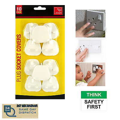 Plug Socket Covers  Child Baby Proof Mains Electrical Safety Inserts