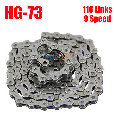 9 Speed HG73 116 Links Road Bike Bicycle Chain For SHIMANO Deore LX 105 UK Ship