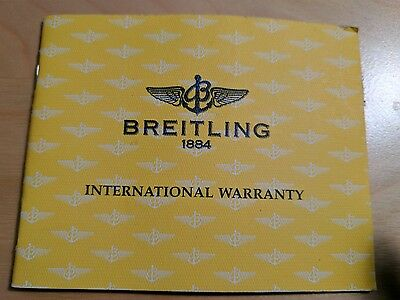 Breitling Watch Warranty Certificate