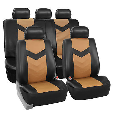 Stupendous Faux Leather Car Seat Covers For Auto Black W Heavy Duty Pdpeps Interior Chair Design Pdpepsorg