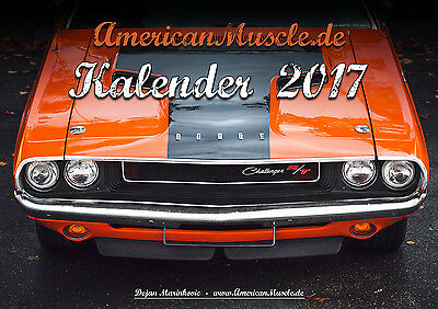 AmericanMuscle.de Mopar Kalender 2017 DIN A4 Muscle Car Dodge Plymouth Charger