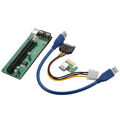 PCI-E 1X to 16X Mining Machine Enhanced Extender Riser Carte Adaptateur AC392