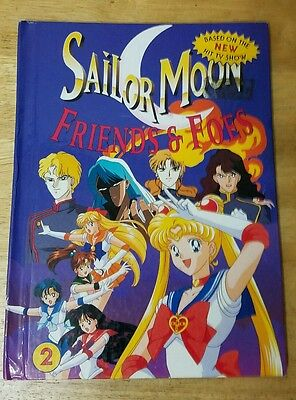 Sailor Moon book Friends and Foes 2 English large hardback childrens