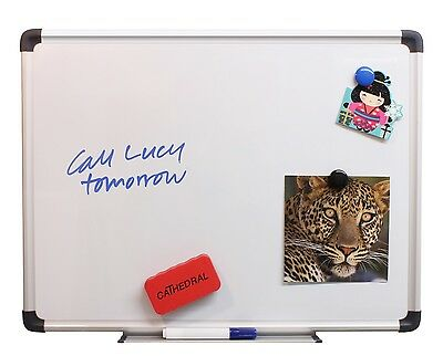 Dry Wipe Whiteboard 35cm X 45cm Magnetic White Notice Memo Board Office Meeting