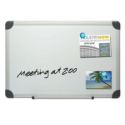 45cm X 60cm Magnetic Dry Wipe Whiteboard White Notice Memo Board Office Meeting