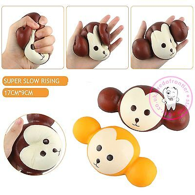 Squeeze Stretch Squishy Cute Monkey Scented Cream Super Slow Rising Vent Toy