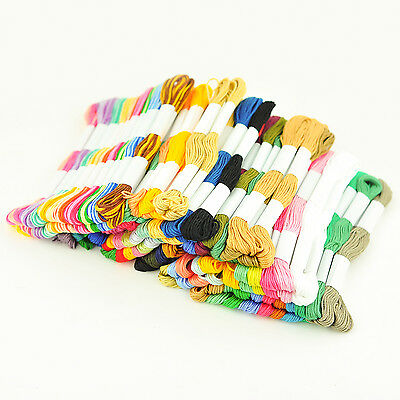 20 X Skeins Coloured Embroidery Thread Cotton Cross Stitch/Braiding/Craft Sewing