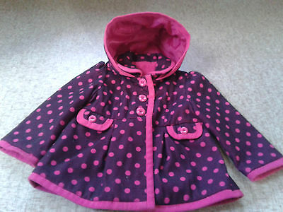 Pink & Maroon Girls Winter Coat age 2-3 years