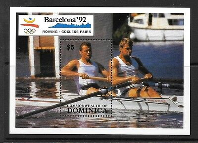 Dominica Sgms1382 1990 Olympic Games  Mnh