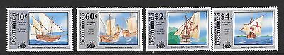 Dominica Sg1406/13 1991 Discovery Of America By Columbus Part Set  Mnh