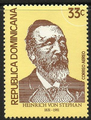 DOMINICAN REPUBLIC SG1446 1981 150th ANNIV OF HEINRICH VON STEPHAN MNH