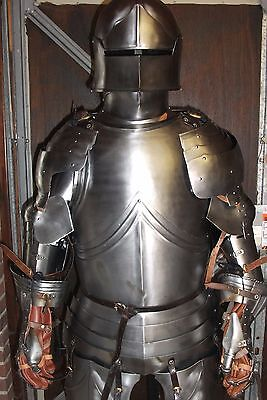 Full Suit of Wearable Re-enactment Grade Articulated Medieval Armour