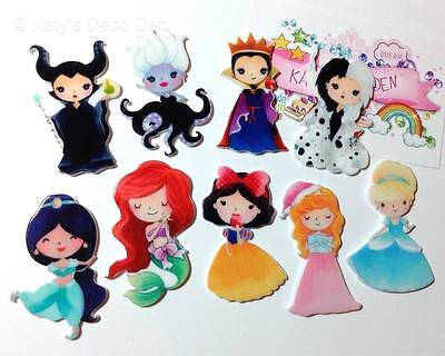 Exclusive Flatback Resin Princess Villain Character Cabochons Decoden Crafts