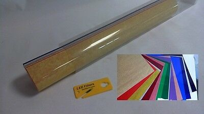 """LeeFilters 12 Pack Light Gel Tints Mixed Colours 24 X 21"""" With Cutter #5L193"""