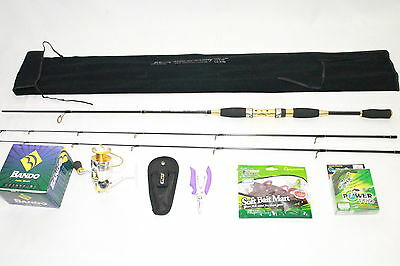 Sport combo! Double Tip Rod+10BB Reel+free-Pliers,Braided Line,Soft Baits(Gold)