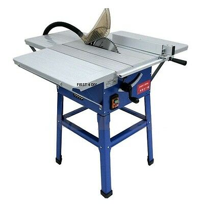 """Heavy Duty 10"""" 1500w Bench Table Cutting Saw With Blade 254mm & Leg Stand 240V"""