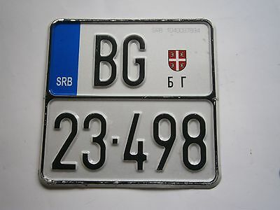 LICENSE PLATES Serbia for moped scooter motor motorcycle Belgrade
