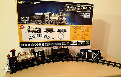 Classic Train 9 Piece Set With Sounds & Headlight