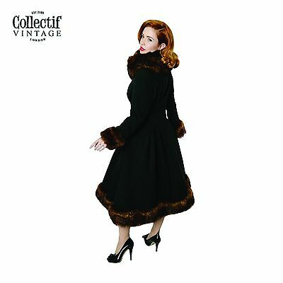 Collectif 1930's 1940's 1950's Classic Vintage Pearl Coat luxurious Faux Fur