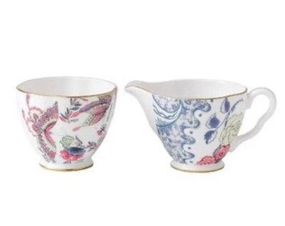 New Wedgwood Harlequin Butterfly Bloom Sugar And Creamer In Gift Box!