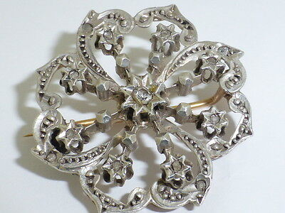 Victorian Set Diamond Brooch, Pretty One