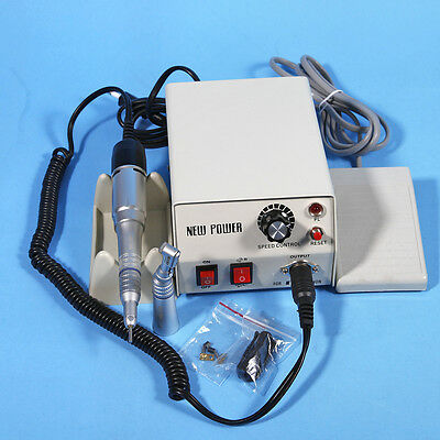 Dental Lab Electric Micromotor N2 w/ 35K Rpm Contra Angle Straight Handpiece Kit