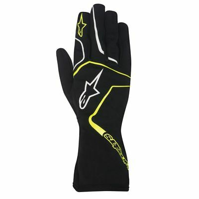 ALPINESTARS child karting gloves kid TECH 1-K RACE S youth BLACK YELLOW