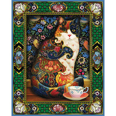 """Jigsaw Puzzle 1000 Pieces 24""""X30"""" Painted Cat WM829"""