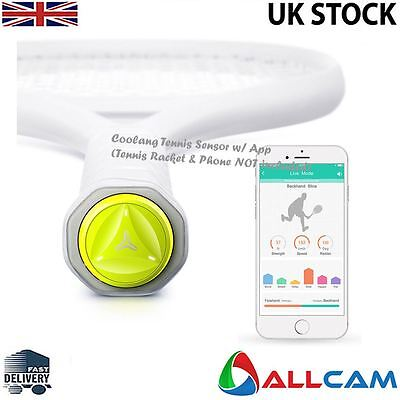 Coollang Tennis Training Aid/ Smart Tennis Sensor & App: Track, Analyse - Green