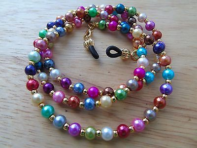 Beaded Multi-Coloured Spectacle  Glasses Chain Lanyard Necklace