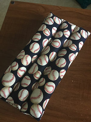"""rice flax heat pad hot/ cold shoulder neck wrap pack Long One 21x6"""" balls sport"""