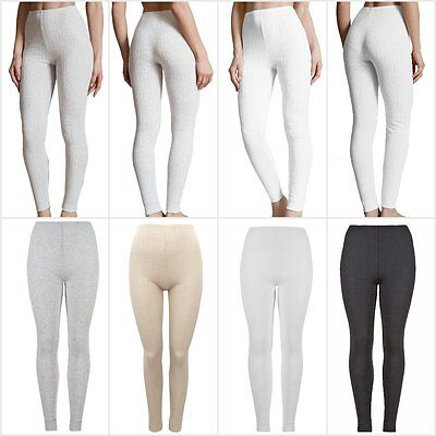 Fa M Ou S High St Women's Pointelle Thermal Ankle Length Leggings RRP £12.50