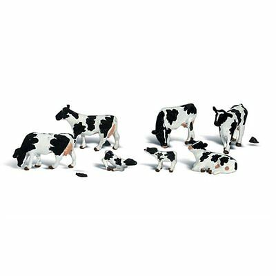 Painted Holstein Cows (OO/HO figures x 11) Woodland Scenics A1863 - free post