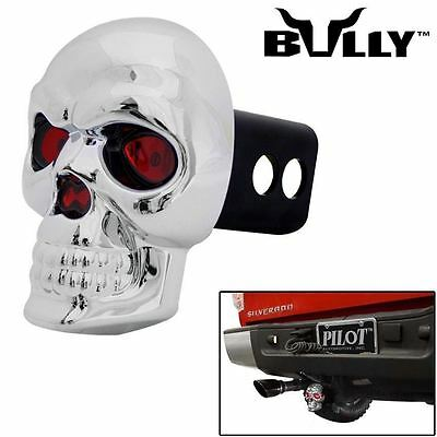 "Bully® SKULL Hitch Cover 2""/1.25"" Towing Receiver Rear Trailer LED Brake Lights"
