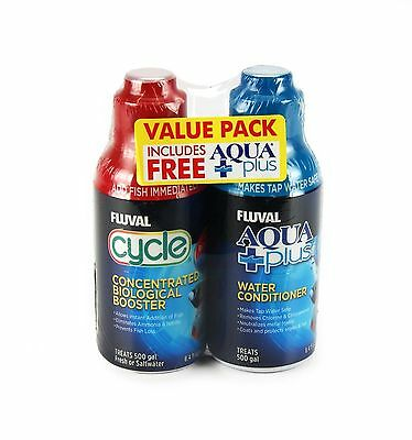 Fluval 250Ml Cycle & Free Aquaplus Value Pack Bio Water Conditioner Nutrafin