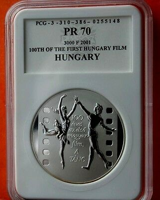 """Hungary 3000 Ft 2001  First Hungarian Film """"The Dance"""" Proof Silver"""