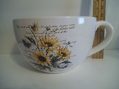 Large Half Cup Wall Pocket Planter Sunflowers