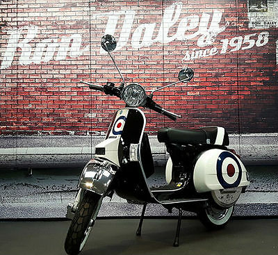New Vespa Px125 Mod Target Gloss Black Ron Daley Special Built To Order